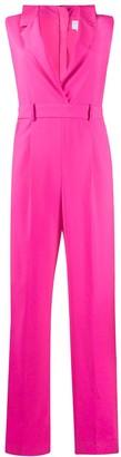 MSGM Bow-Neck Sleeveless Tailored Jumpsuit