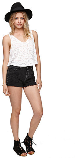 Bullhead Denim Co Fray Hem Mom Shorts