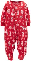 Carter's Christmas Sleep N Play Footie (Baby) - Print