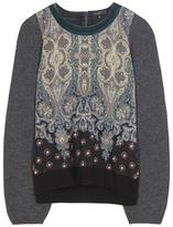 Etro Printed wool-blend sweater