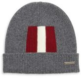 Bally Rib Knit Wool Beanie