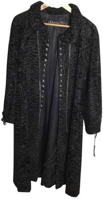 Christian Dior Black Astrakhan Coat for Women Vintage