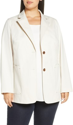 Lafayette 148 New York Annmarie Stretch Cotton Twill Jacket