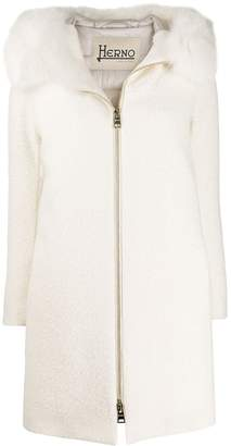 Herno midi zipped coat