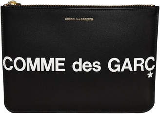 Comme des Garcons Huge Logo Top Zip Wallet