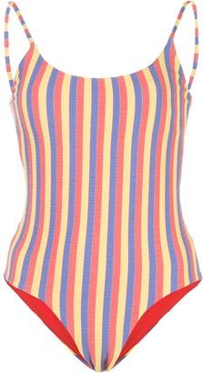 Onia Gabriella striped print swimsuit