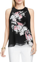 Vince Camuto Winter Garland Sleeveless Print Blouse
