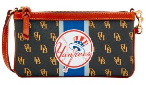 Dooney & Bourke New York Yankees Large Slim Stadium Wristlet