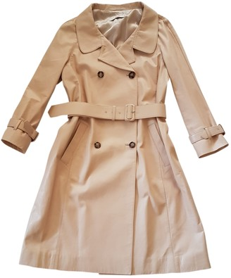 Prada Pink Leather Trench Coat for Women