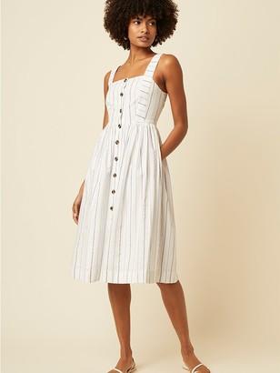 Great Plains Kyra Stripe Dress In Tangier Blue Milk - 10