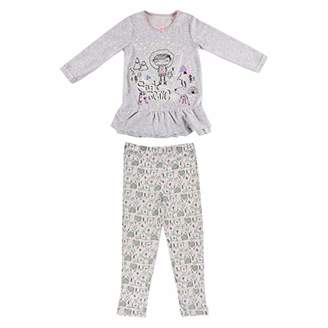 Camilla And Marc Girls Long Sleeve Selfie Artic Girl Pyjamas - Size 2/3 Years (92/98 cm)