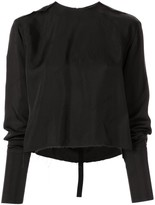 Yang Li long-sleeved distressed blouse