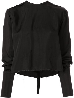 Yang Li Long-Sleeved Distressed Blouse