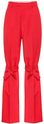 Bottega Veneta High-rise straight fit canvas pants