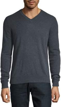 Black Brown 1826 V-Neck Cashmere Sweater