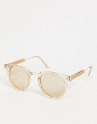 Spitfire Teddy Boy round sunglasses in tan