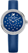 Swarovski Women's Swiss Daytime Blue Leather Strap Watch 31mm 5235485