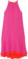 Diane von Furstenberg Kera Layered Crepe Dress - Pink