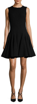 Christian Dior Wool Pleated Flared Dress