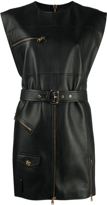 Versace Belted Sleeveless Dress