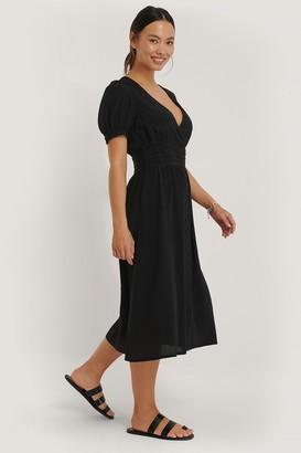 NA-KD Pleated Waist Viscose Dress