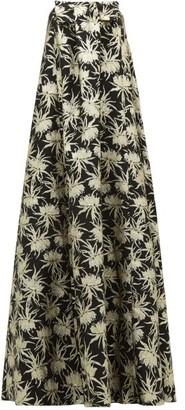 Rochas Piastra Radsmir Vanilla Flower-brocade Gown - Womens - Black Gold