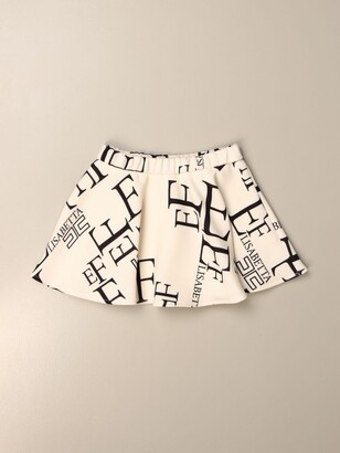 Elisabetta Franchi Mini Skirt With All Over Logo
