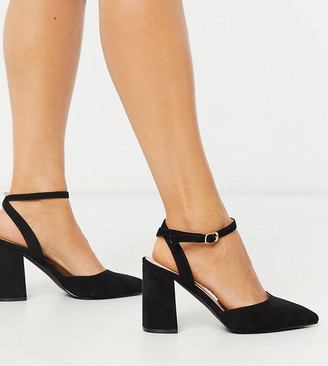 Raid Wide Fit Exclusive Neima block heeled shoes in black