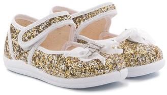 MonnaLisa Glitter Bow Detail Ballerinas