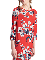 Joules Ambion Shift Dress, Red Posy