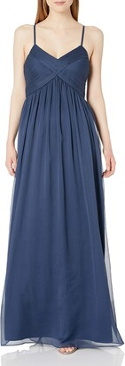 Minuet Women's CRIS-Cross Rouched Bodice Long Gown
