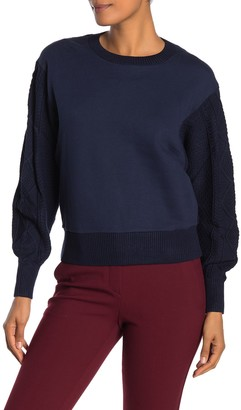 Current Air Back Cable Knit Sweater