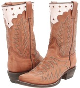 Stetson Starred 9 Stovepipe Boot (Antiqued Brown) - Footwear