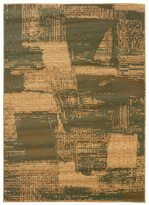 LNR Home Opulence Green/ Cream Abstract Area Rug (5'3 x 7'5)