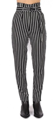 Calvin Klein Jeans Striped Twill Pants With Belt