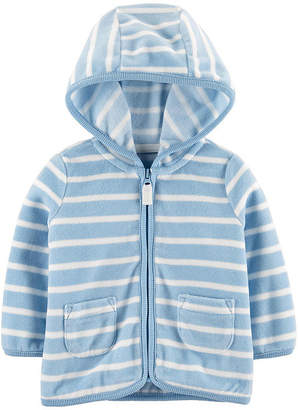 Carter's Boys Hooded Neck Long Sleeve Striped Cardigan Baby