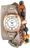 La Mer Women's LMMULTI2000 Brazil Stones Chain Wrap Watch