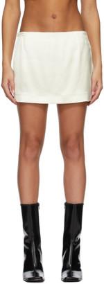 GAUGE81 Off-White Heavy Satin Tulua Miniskirt