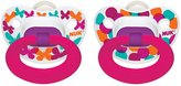 NUK Gerber Trendline 2 Pacifiers Classic Silicone Dots - Size 2 - Girls