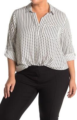 Velvet Heart Elisa Print Roll Sleeve Shirt