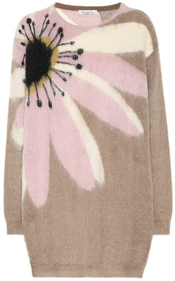 Valentino mohair-blend sweater