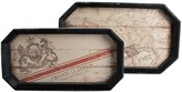 Twos Company Two's Company Vino Wine Motif Gallery Wood Trays - Set of 2