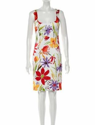 Dolce & Gabbana Floral Print Knee-Length Dress White