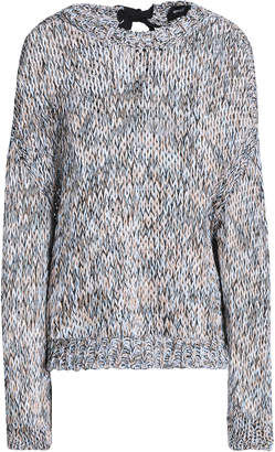 Rochas Tie-back Marled Open-knit Cotton Sweater