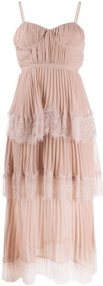 Self-Portrait Layered Pleated Dress