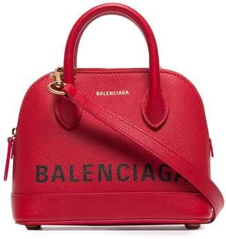 Balenciaga red ville XXS leather top handle bag