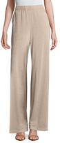 St. John Metallic Jersey Wide Leg Pant