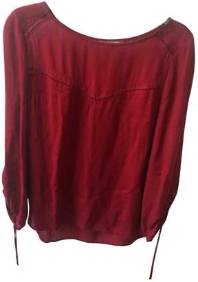 Comptoir des Cotonniers Burgundy Silk Top for Women