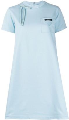 Prada bow detail T-shirt mini dress