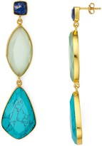 Argentovivo Multi-Stone Drop Earrings